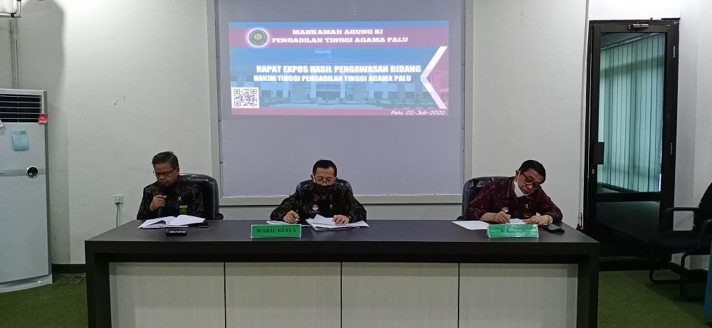 PTA Palu Gelar Ekspos Hasil Temuan Hakim Tinggi Pengawas Bidang | (3/7)